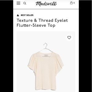 Madewell Eyelet Flutter Sleeve Top